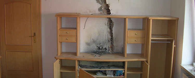 Schäden durch Blitzschlag Gallery